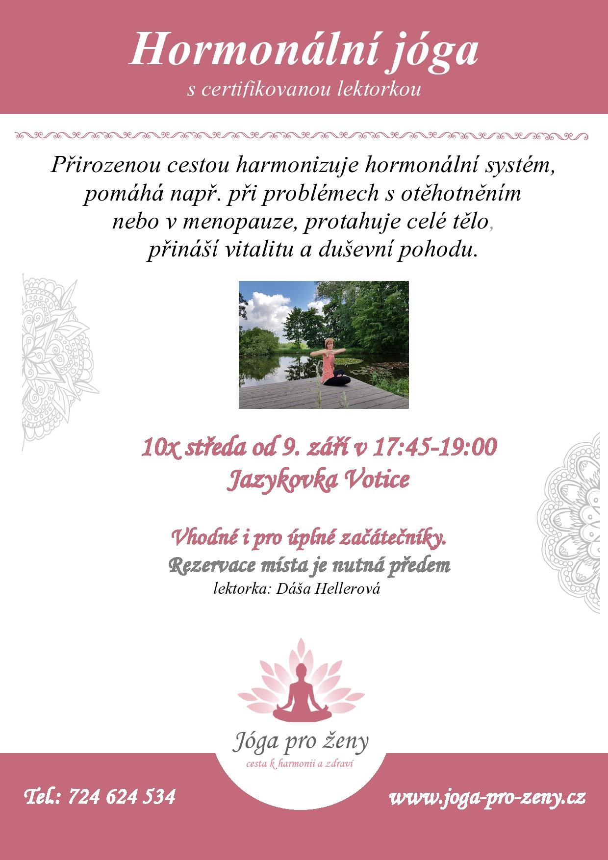 Hormonalni joga pro ženy Votice
